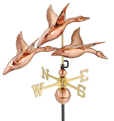 Good Directions 3 Geese Flight Weathervane