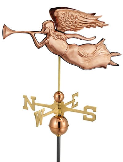 Good Directions Copper Angel Weathervane