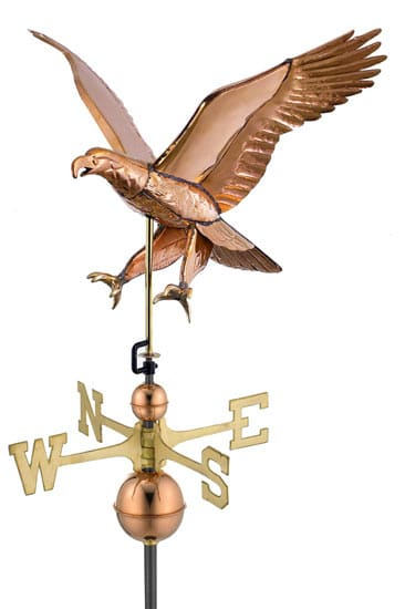 Good Directions Copper Attack Eagle Weathervane