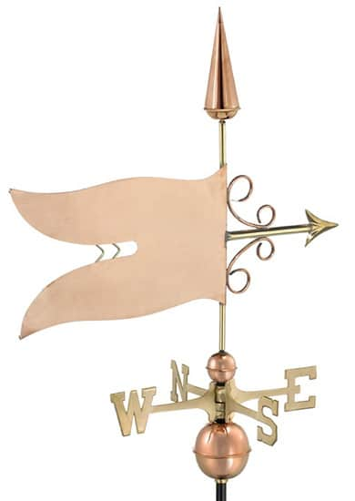 Good Directions Copper Banner Weathervane