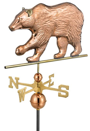 Good Directions Copper Bear Weathervane