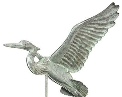 Good Directions Blue Heron Weathervane Details