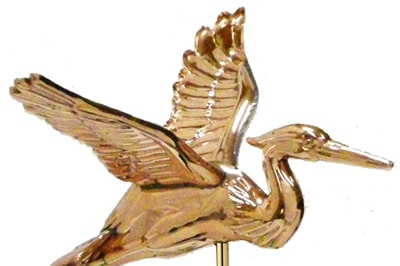 Good Directions Blue Heron Weathervane Details