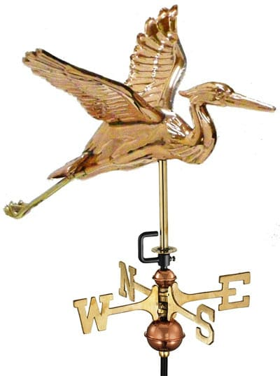 Good Directions Blue Heron Cottage Weathervane