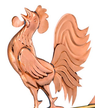 Good Directions Crowing Rooster Weathervane Details