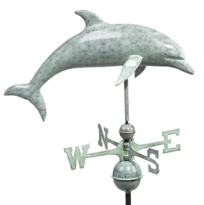 Good Directions Copper Dolphin Weathervane