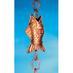 Good Directions Fish Rain Chain Details