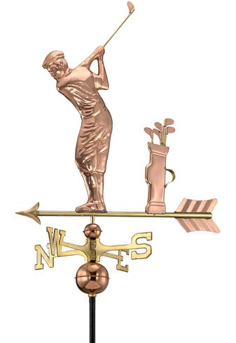 Good Directions Copper Golfer Weathervane