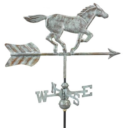 Good Directions Copper Horse Cottage Weathervane