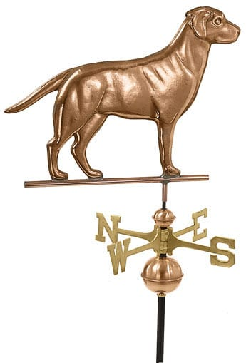 Good Directions Copper Labrador Retriever Weathervane