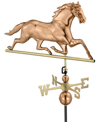 Good Directions Copper Large Horse Weathervane