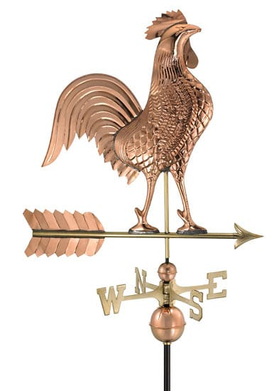 Good Directions Copper Large Rooster Weathervane