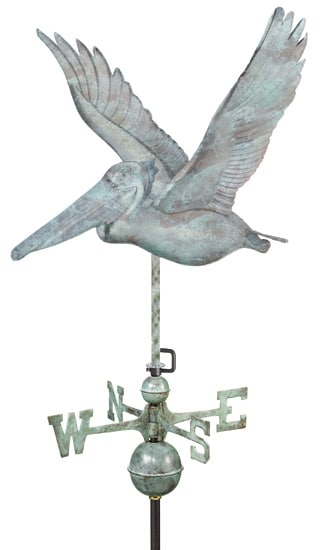 Good Directions Copper Pelican Weathervane