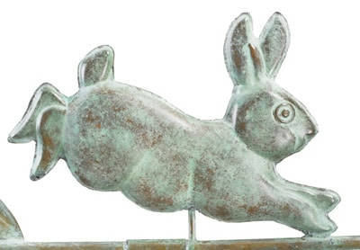Good Directions Rabbit Cottage Weathervane Details