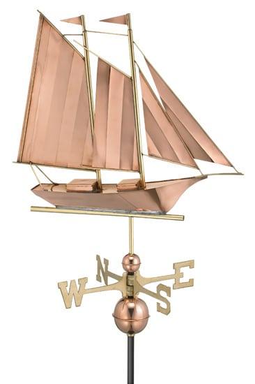 Good Directions Copper Schooner Weathervane