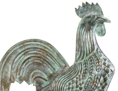 Good Directions Small Rooster Weathervane Details