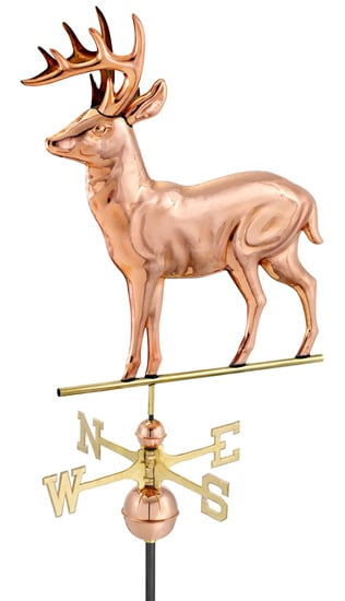 Good Directions Copper Standing Deer Weathervane