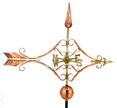 Good Directions Copper Victorian Arrow Weathervane