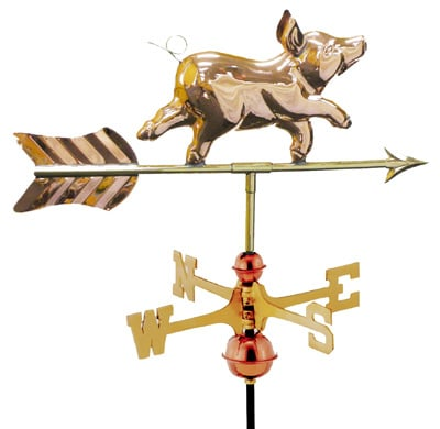 Good Directions Whimsical Pig Cottage Weathervane