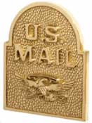Gaines Keystone Door Plaque Polished Brass