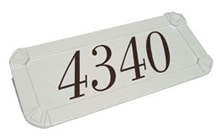 Gaines Mailboxes Keystone Address Plaque White