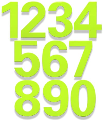 HouseArt Key Lime bFuller House Numbers
