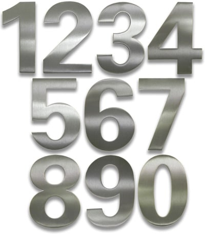 HouseArt Brushed Stainless bFuller House Numbers