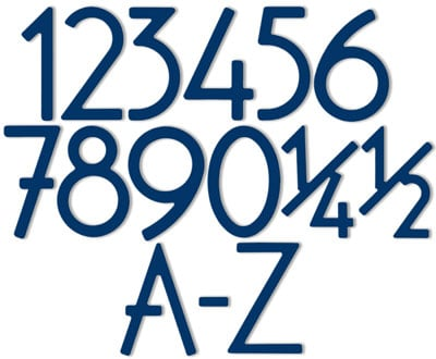 HouseArt Blue House Address Numbers Letters