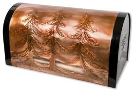Hentzi Rugged Rural Mailbox Pine Trees