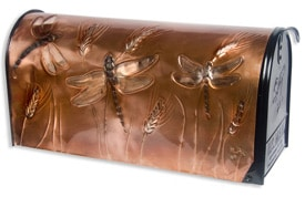 Hentzi Rural Copper Mailbox Dragonfly