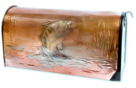 Hentzi Rural Copper Mailbox Bass
