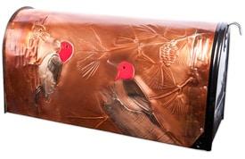 Hentzi Rural Copper Mailbox Redheaded Woodpecker