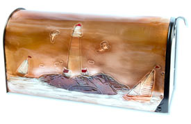Hentzi Rural Copper Mailbox Sailing Days