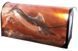 Hentzi Rural Copper Mailbox Soaring Marlin