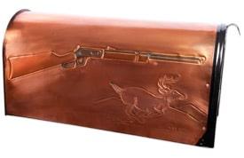 Hentzi Rural Copper Mailbox Winchester Deer