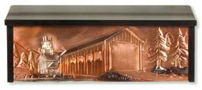 Henzti Wall Mount Mailbox Covered Bridge