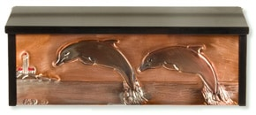 Henzti Wall Mount Mailbox Leaping Dolphins