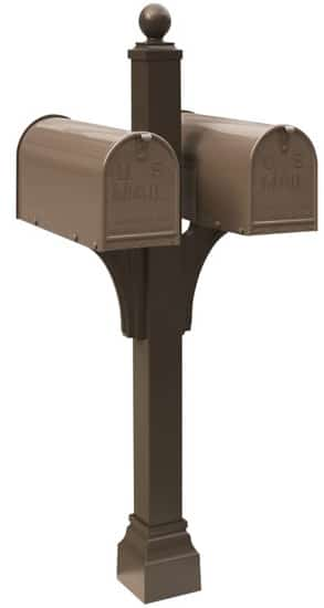Janzer Mailboxes with Dual Mount Post