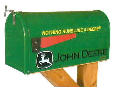 John Deere Nothing Runs Novelty Mailbox
