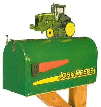John Deere Track Tractor Novelty Mailbox