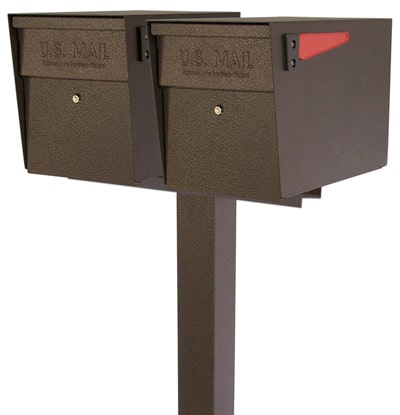 Mail Boss Locking Mailboxes Dual Post
