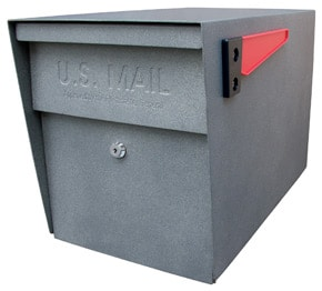 Mail Boss Post Mount Mailbox Granite