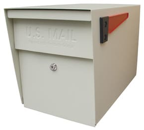 Mail Boss Post Mount Mailbox White