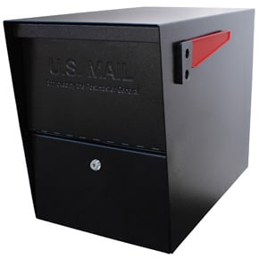 Mail Boss Package Master Mailbox Black