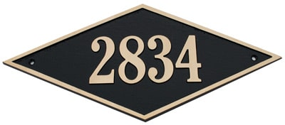 Majestic Solid Brass Diamond Address Plaques