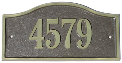 Majestic Solid Brass Kelso Address Plaques