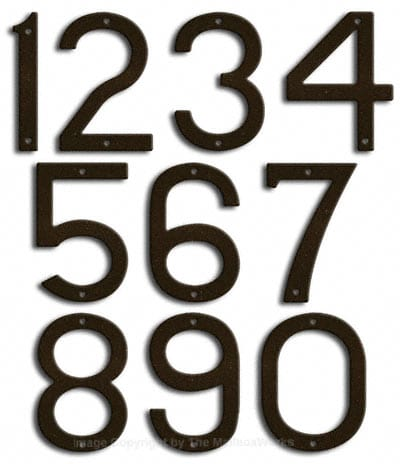 Large Bronze House Numbers Majestic 10