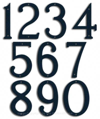 Medium Navy Blue House Numbers Majestic