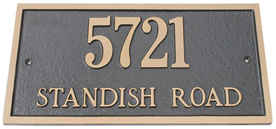 Majestic Solid Brass Rectangle Address Plaques