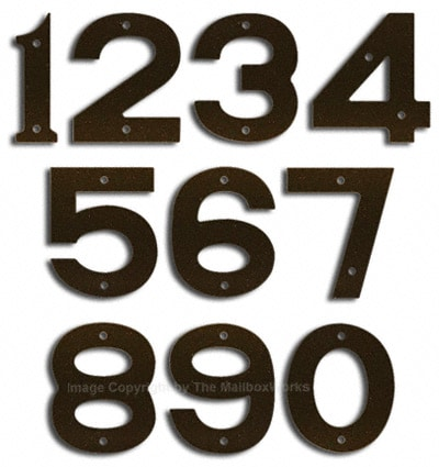 Majestic Small Bronze House Numbers